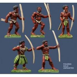 PSS14 Guerriers mélanésiens avec arcs