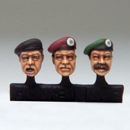 Têtes de bérets militaires