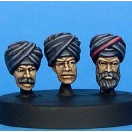 Têtes de thugs/sikhs