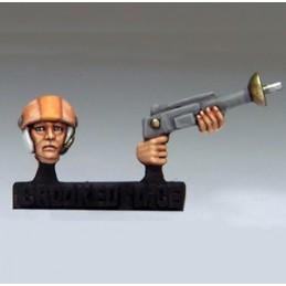 Casque et fusil laser
