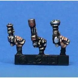 Pistolets lasers pour cyborg