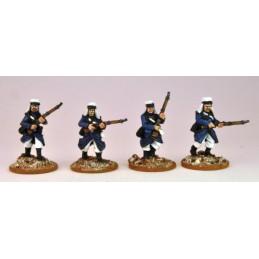 MOD003 Légionnaires en manteau avançant I