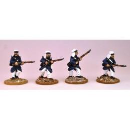 MOD004 Légionnaires en manteau avançant II