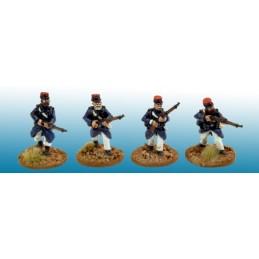MOD035 Légionnaires en manteau sans couvre-képi