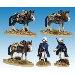 MOD037 Compagnie montée de la Légion avec mules chargées