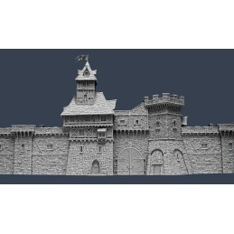 Murs de cité médiévale : section E