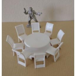 Table de restaurant + 8 chaises