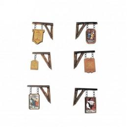 Panneaux pour auberge et commerce