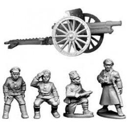 Canon de campagne et artilleurs