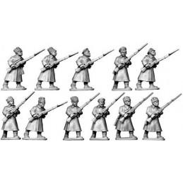 Infanterie bolchevique  en manteau
