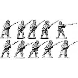 """Infanterie """"blanche"""" dépenaillée"""