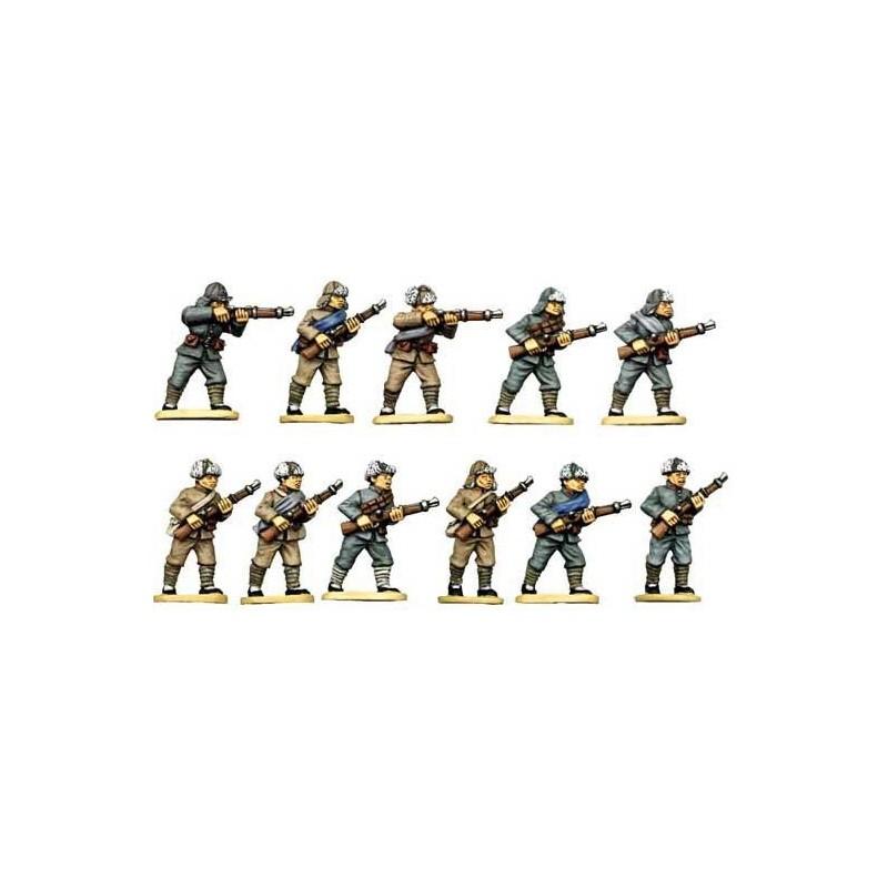 Infanterie chinoise en chapeau à fourrure