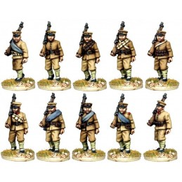 Infanterie chinoise marchant