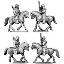 Cavalerie chinoise en chapeau de fourrure