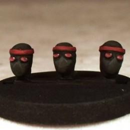 Têtes de ninjas
