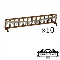 Lot de 10 Barrières