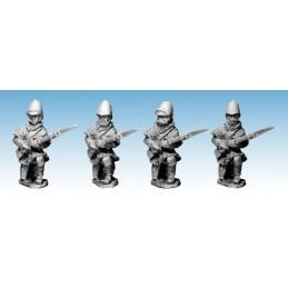 """NWF011 Infanterie britannique """"attendant""""à genoux en veste fourrée"""