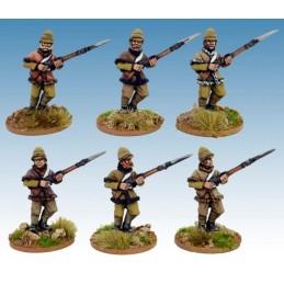 """NWF015 Infanterie britannique """"avançant""""en veste fourrée"""