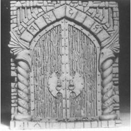 Porte monumentale pour château