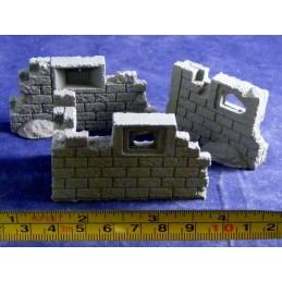Murs de brique en ruine