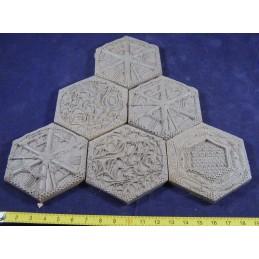Dalles hexagonales aliens
