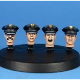 Policiers en casquette