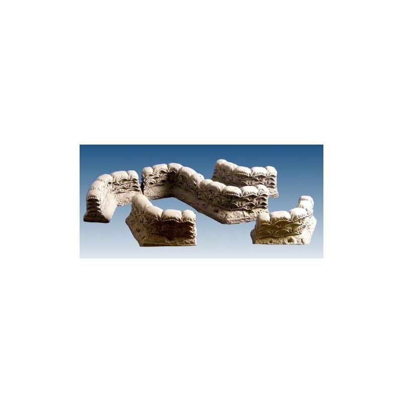 10074 coins de murs de sacs de sable