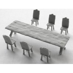 Table rectangulaire + chaises