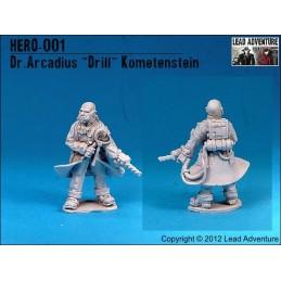 """Dr. Arcadius""""Drill""""Kometenstein"""