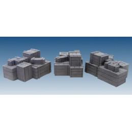 Piles de caisses