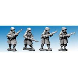 SWW351 Infanterie US en manteau (hiver) avec fusils