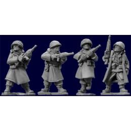 SWW352 Infanterie US en manteau (hiver) avec carabines