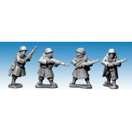 SWW355 Infanterie US en manteau (hiver) avec fusils