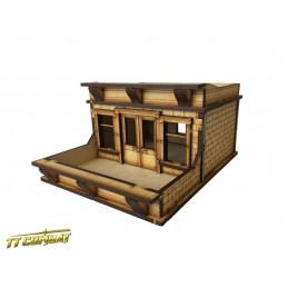 Toit/terrasse pour immeuble en brique
