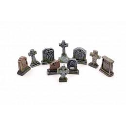 Lot de 10 pierres tombales