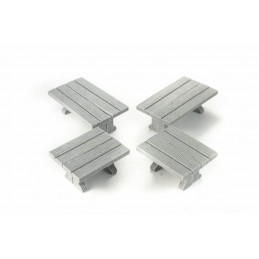 Set de tables rectangulaires