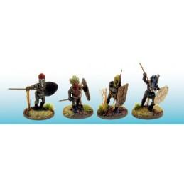 Guerriers avec masques rituels