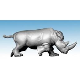 Rhinocéros chargeant