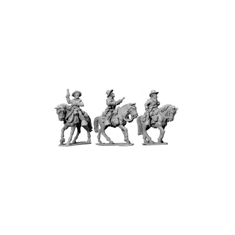 AWW057 cavaliers montés avec carabines