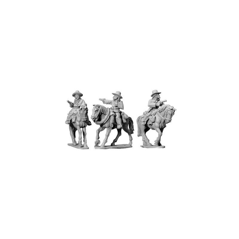 AWW058 cavaliers montés avec pistolets