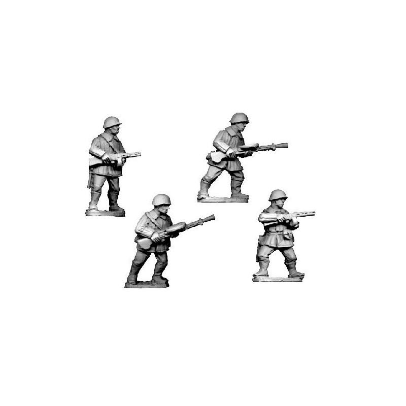 WWR021 Infanterie LMG en uniforme d'hiver avec casque