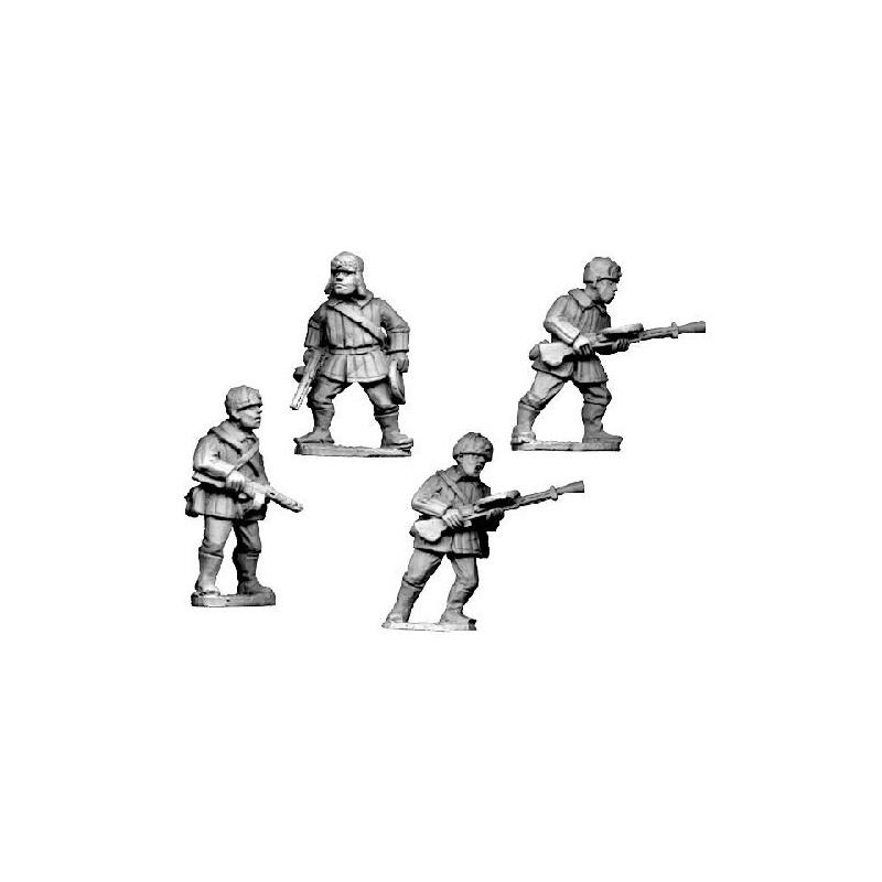 WWR025 Infanterie LMG en uniforme d'hiver avec chapka