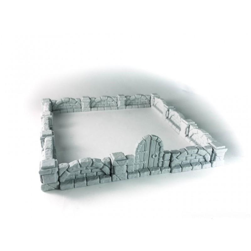 Murs en pierre (enceinte) avec porte