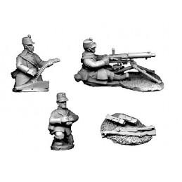 BL104 - Mitrailleuse Maxim avec servants en shako