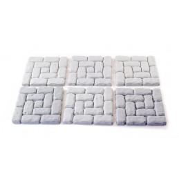 Bases carrées de 3,75cm x 2,5mm