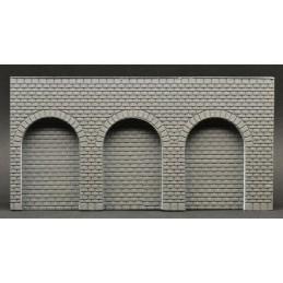 Arches en briques rugueuses