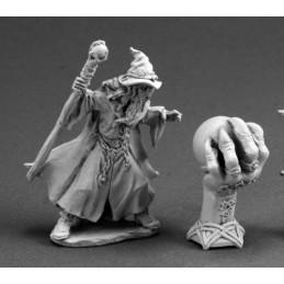 03587 Magicien avec boule de cristal