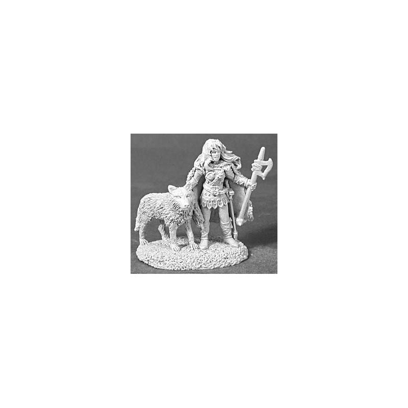 02451 Guerrière avec loup