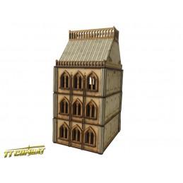 Immeuble en brique gothique
