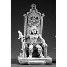 02082  Roi barbare sur son trône